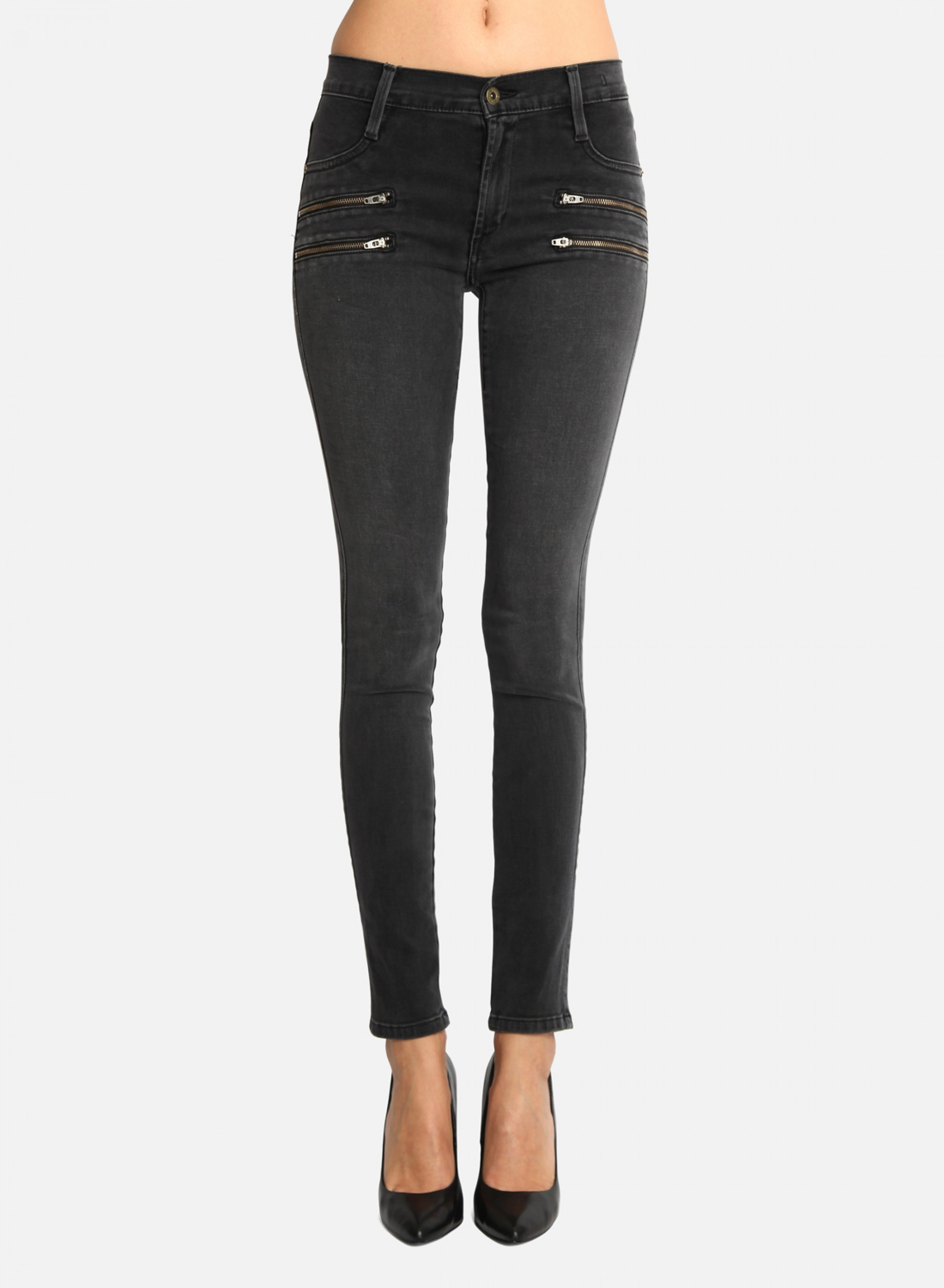 Womens Double Front Zip Legging Skinny Jeans James Jeans Clearance Limited Edition 53piDi